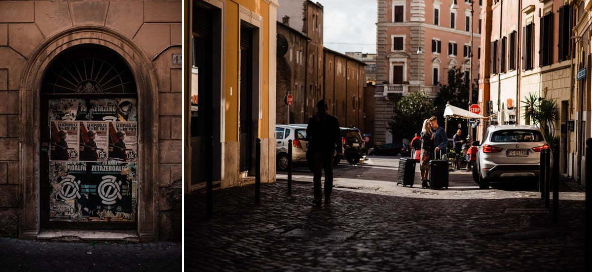 Para młoda szukająca hotelu przed swoją sesją ślubną w Rzymie